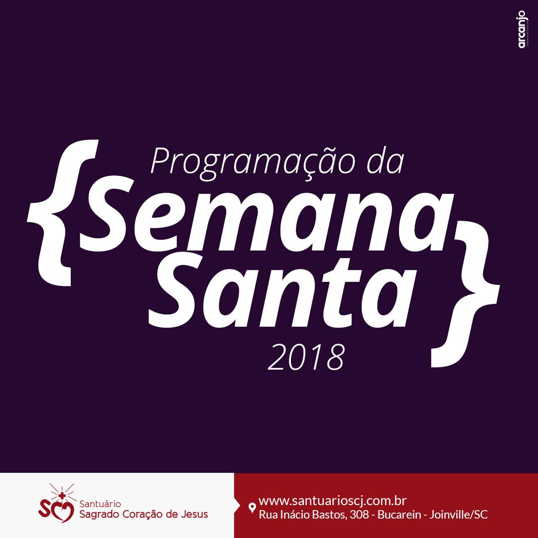 Programação da Semana Santa 2018