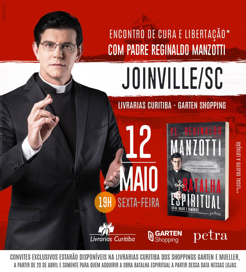 Padre Reginaldo Manzotti lança livro Batalha Espiritual em Joinville